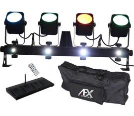 BARRE AVEC 4 PROJECTEURS DMX A LED COB