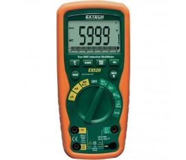 Multimètre numérique Extech EX520 étanche (IP67) CAT III 1000 V, CAT IV 600 V Affichage (nombre de points):6000