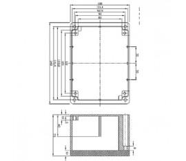 Aluminium enclosure 148x108x75 mm