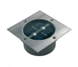 Spot solaire LED carré à enterrer