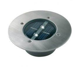 Spot solaire LED rond à enterrer