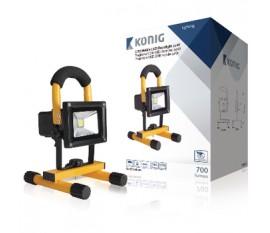 Projecteur LED COB mobile 10W, 700lm Fiche européenne