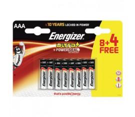 Lot de 8piles alcalines AAA/LR03 Ultra+ 1,5V + 4piles gratuites