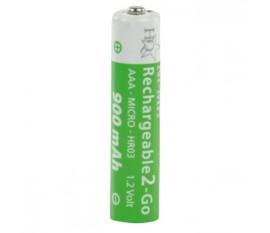 Batteries NiMH AAA/LR03 1.2 V 900 mAh R2GO 4-blister