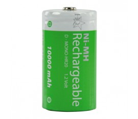 Batteries NiMH D/LR20 1.2 V 10000 mAh 2-blister