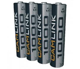 Batteries NiMH AAA/LR03 1.2 V 1000 mAh 4-blister