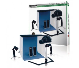 maxi photo studio with camera stand in carrying bag