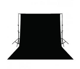 Toile de fond noire 3x3 m