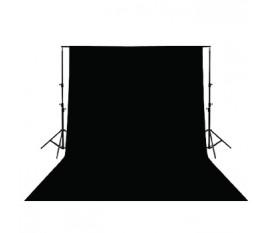 Toile de fond noire 3x2 m