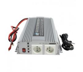 Convertisseur 1000W 12V - 230V avec chargeur intégré