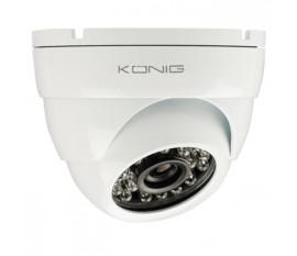 Caméra de surveillance avec dôme à 700 TVL (lignes TV) avec câble blanc de 18 m
