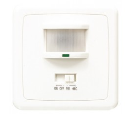 Wall motion sensor switch