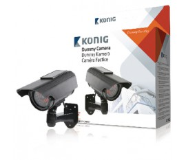 CCTV dummy camera with solar panel and IR LEDs that light up in dark