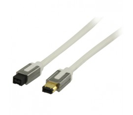 FireWire 400 cable 6-pin male - 9-pin male 2.00 m white