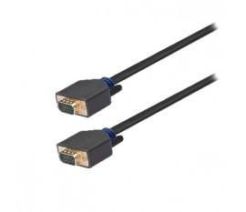 Câble VGA, VGA mâle vers mâle, 2m, gris