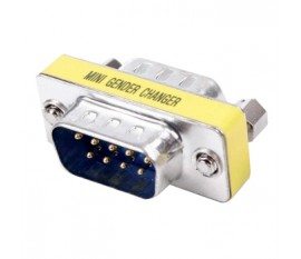 Mini-adapter 9p male - 9p male