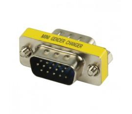 Adaptateur mini VGA métal HD15 pins mâle - HD15 pins mâle