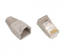 RJ45 CAT5e connector grey