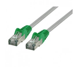 FTP CAT 6 cross network cable 10.0 m grey/green