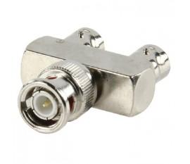 BNC plug - 2 BNC sockets adapter
