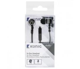 Écouteurs intra-auriculaires noirs à câble plat, 10mm