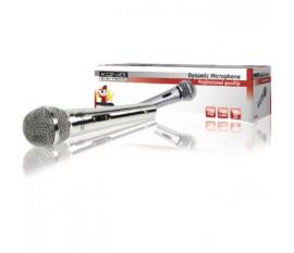 Dynamic microphone metal silver