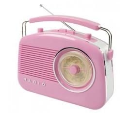 Radio AM/FM design rétro rose