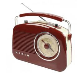Radio AM/FM design rétro marron