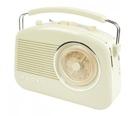 Radio AM/FM design rétro ivoire