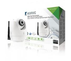 Caméra IP de télésurveillance d'intérieur de couleur blanche avec fonction de panoramique et d'inclinaison