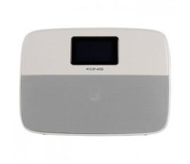 Haut-parleur portable Bluetooth avec fonction réveil blanc