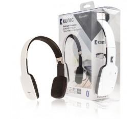 Casque d'écoute Bluetooth blanc
