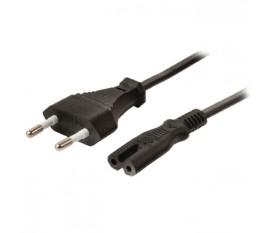 Câble d'alimentation CEE 7/16 (connecteur européen) vers CEI-320-C7, 5m, noir