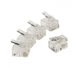 Connecteur RJ11 mâle transparent par lot de 10 pièces