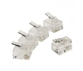 Connecteur de télécommunication RJ11 mâle transparent