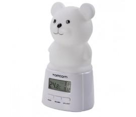 Lumière de nuit LED multi couleur - Thermomètre/Hygromètre