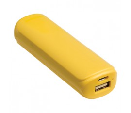 Batterie portable 2200mAh, 5V, 1A, jaune