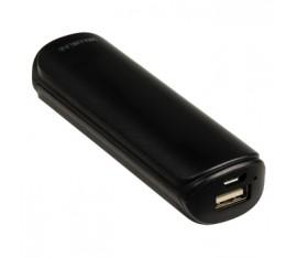 Batterie portable 2200mAh, 5V, 1A, noire