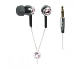 Crystal design in-earphones pink