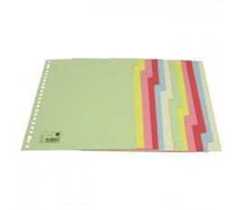 12 tabs A4, carton, coloured