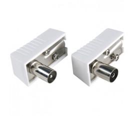 Connecteurs mâles/femelles coaxiaux IEC