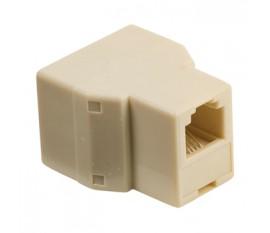 Répartiteur de télécommunication RJ11 femelle – 2x RJ11 femelle ivoire
