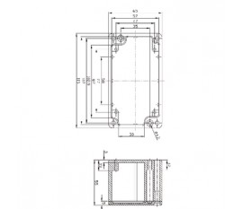 Aluminium enclosure 115x65x55 mm