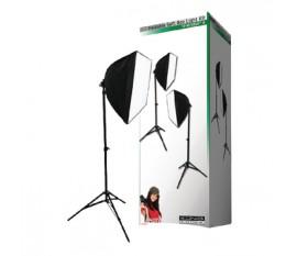 Foldable soft box light kit