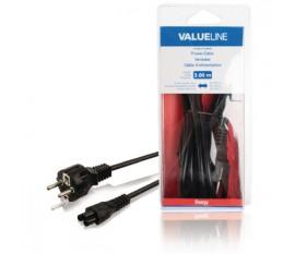Câble d'alimentation Schuko mâle droit - IEC-320-C5 3.00 m noir