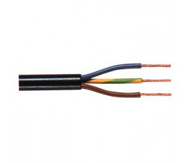 Supply cable with ground 3 x 0.75 mm² on reel 100 m black