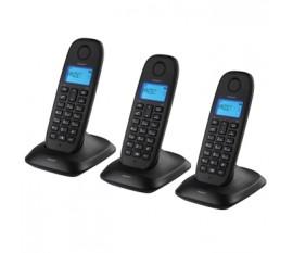 Wireless dect-phone triple black