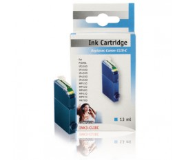 Cyan inkcartridge for Canon pixma printers and multifunctionals. compatible with Canon CLI-8C (13 ml)