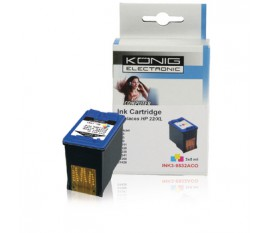 Tri-colour inktjet print Cartridge voor HP (3x 5 ml)