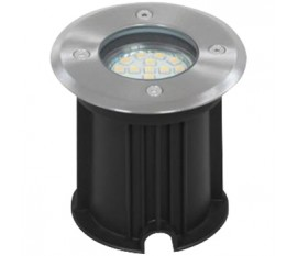 LED GROUND SPOT BRUSHED PLASTIC GLASS